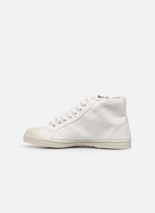 Baskets Bensimon Tennis Zippy Colorsole Blanc vue face