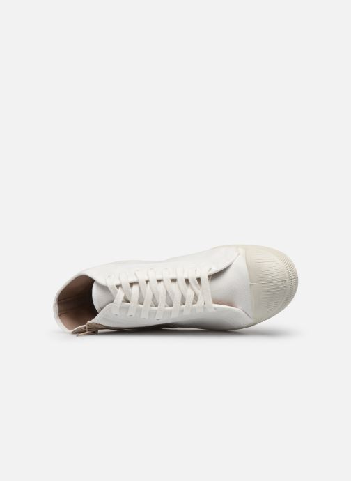 Baskets Bensimon Tennis Zippy Colorsole Blanc vue gauche