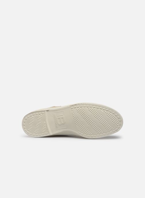 Baskets Bensimon Tennis Zippy Colorsole Blanc vue haut