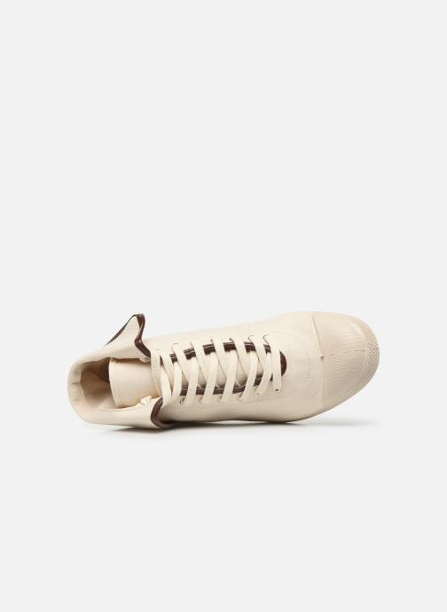 Baskets Bensimon Tennis Steffi Authentic Beige vue gauche