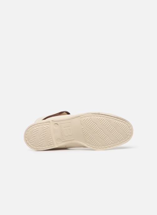Baskets Bensimon Tennis Steffi Authentic Beige vue haut