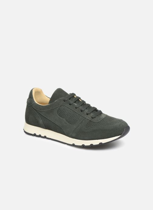 Trainers Bensimon Runnings Femme Green detailed view/ Pair view