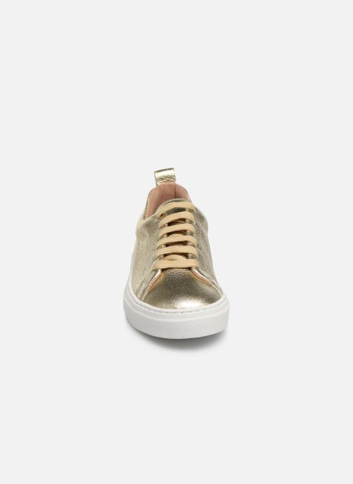 Trainers Bensimon Basket Cadeo Unie Bronze and Gold model view
