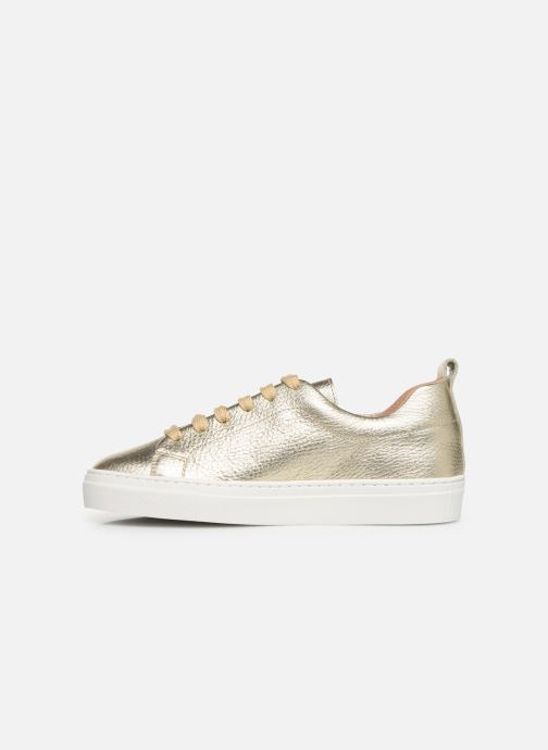 Trainers Bensimon Basket Cadeo Unie Bronze and Gold front view