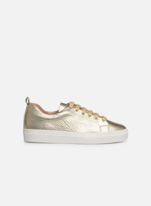 Trainers Bensimon Basket Cadeo Unie Bronze and Gold back view