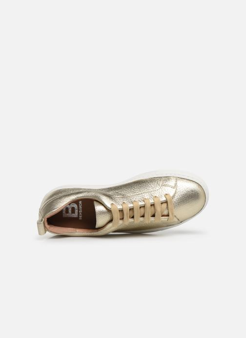 Trainers Bensimon Basket Cadeo Unie Bronze and Gold view from the left