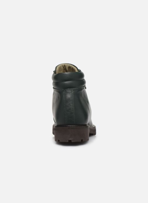 Ankle boots Bensimon Boots Combloux Green view from the right