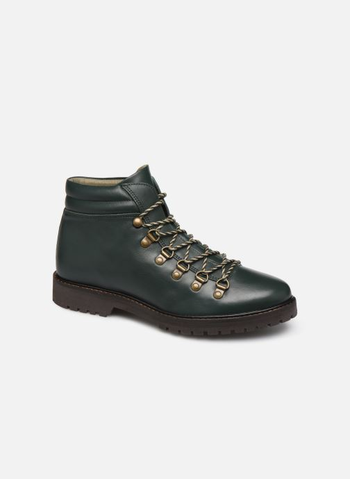 Ankle boots Bensimon Boots Combloux Green detailed view/ Pair view