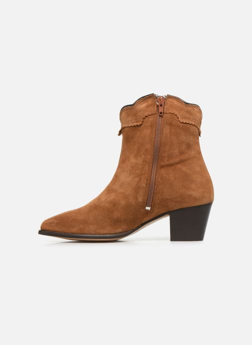 Ankle boots Bensimon Santiags Cisco Brown front view