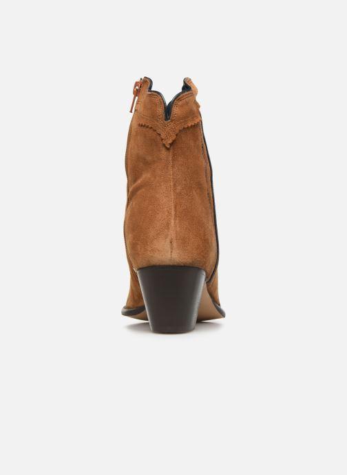 Ankle boots Bensimon Santiags Cisco Brown view from the right