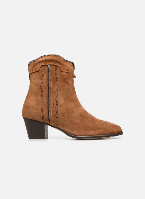 Ankle boots Bensimon Santiags Cisco Brown back view