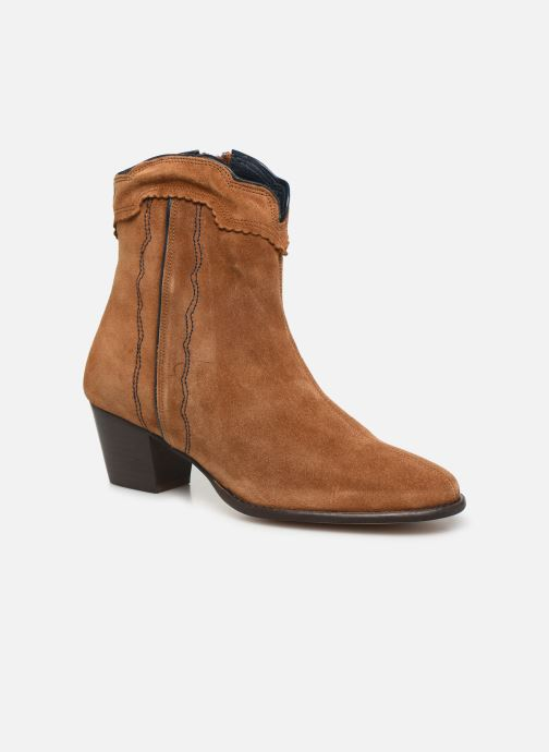 Ankle boots Bensimon Santiags Cisco Brown detailed view/ Pair view