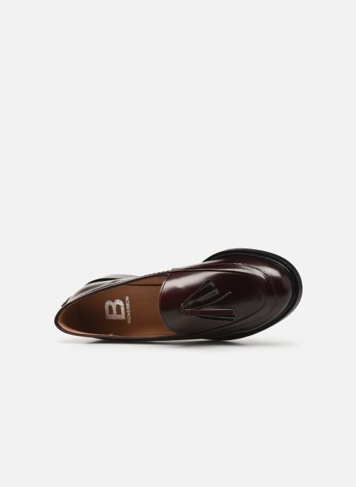 Loafers Bensimon Mocassin Casena Burgundy view from the left
