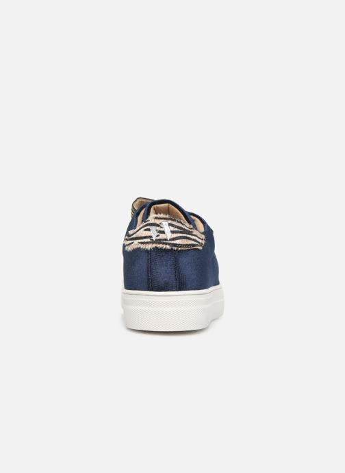 Baskets Vanessa Wu BK2036 Bleu vue droite