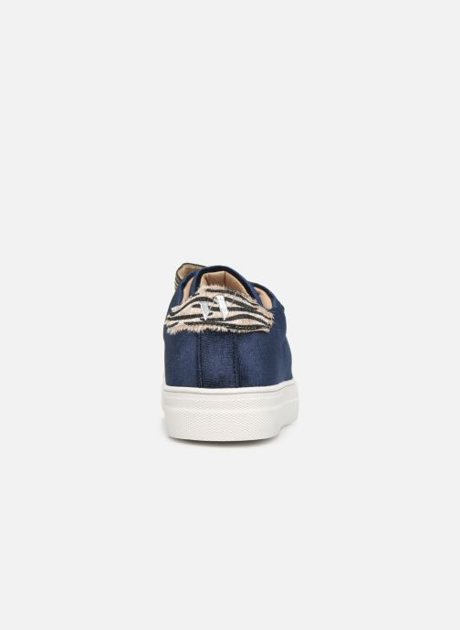 Trainers Vanessa Wu BK2036 Blue view from the right