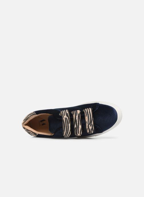 Sneaker Vanessa Wu BK2036 blau ansicht von links
