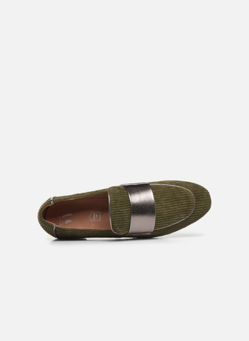 Loafers Vanessa Wu MO1995 Green view from the left