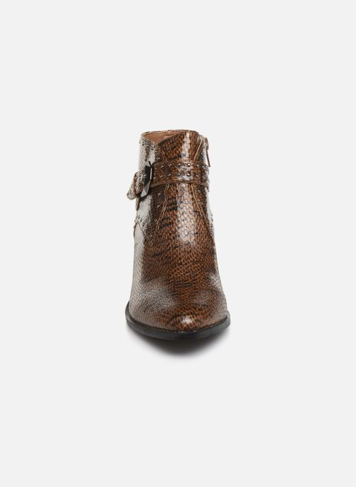 Ankle boots Vanessa Wu BT2015 Brown model view