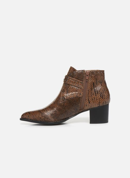 Ankle boots Vanessa Wu BT2015 Brown front view