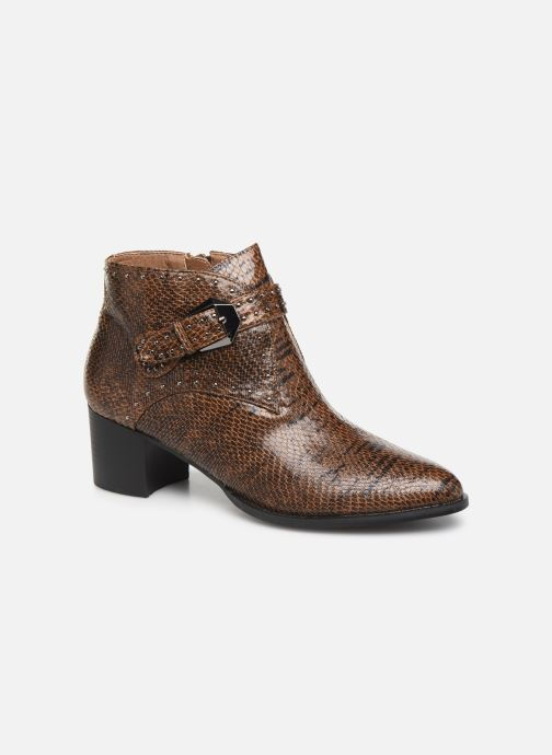 Ankle boots Vanessa Wu BT2015 Brown detailed view/ Pair view