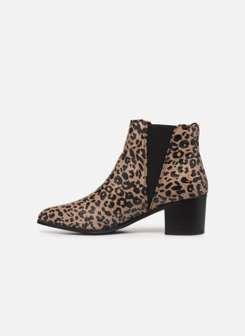 Ankle boots Vanessa Wu BT2020 Beige front view