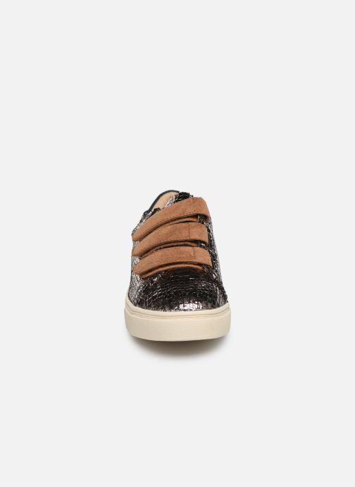 Baskets Vanessa Wu BK2006 Or et bronze vue portées chaussures