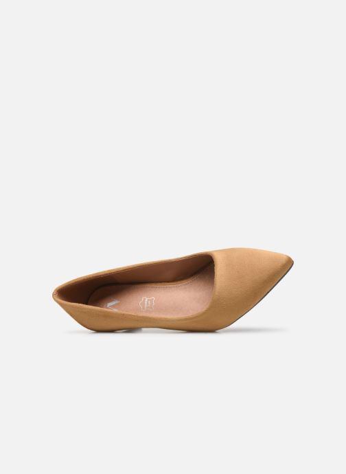 Zapatos de tacón Vanessa Wu EC2046 Marrón vista lateral izquierda