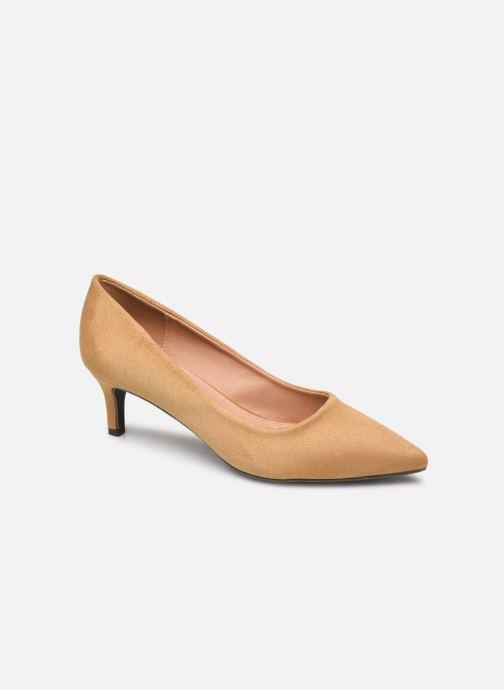High heels Vanessa Wu EC2046 Brown detailed view/ Pair view