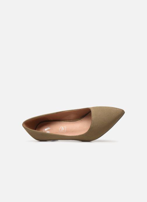 Zapatos de tacón Vanessa Wu EC2046 Verde vista lateral izquierda