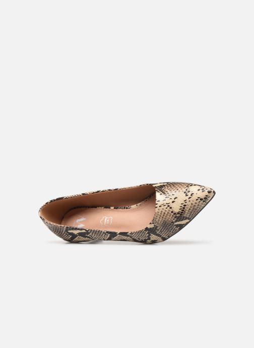 Zapatos de tacón Vanessa Wu EC2051 Beige vista lateral izquierda