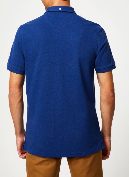 Vêtements Farah F4KF9059 Bleu vue portées chaussures