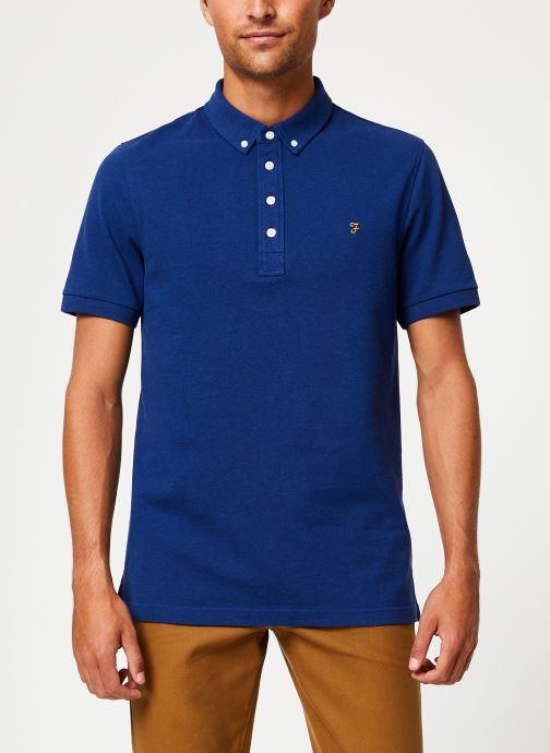 Vêtements Farah F4KF9059 Bleu vue droite