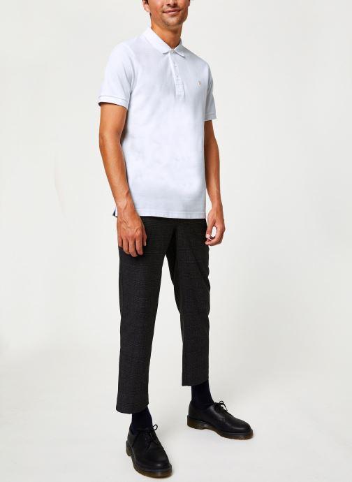 Vêtements Farah F4KF9057 Blanc vue bas / vue portée sac