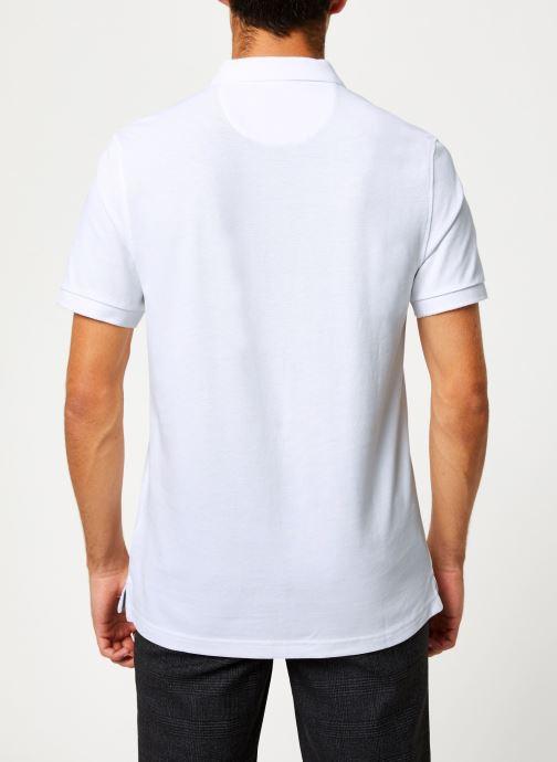 Vêtements Farah F4KF9057 Blanc vue portées chaussures