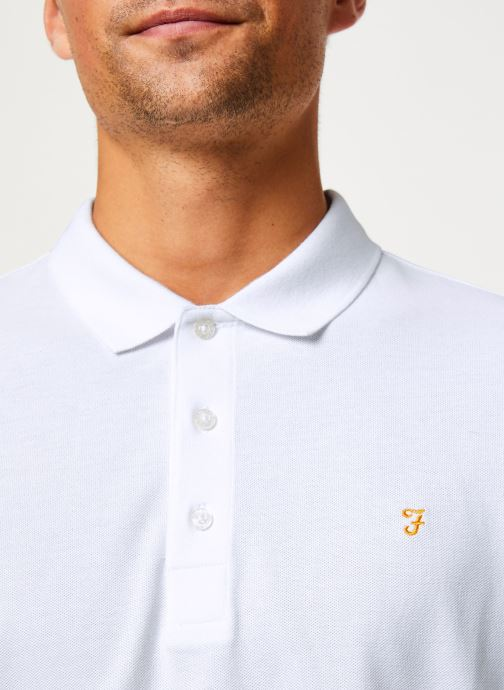 Vêtements Farah F4KF9057 Blanc vue face