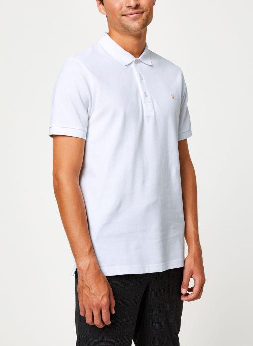 Vêtements Farah F4KF9057 Blanc vue droite