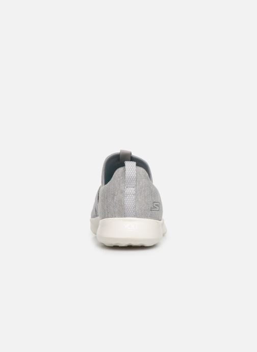 Trainers Skechers Serene/Poised Grey view from the right