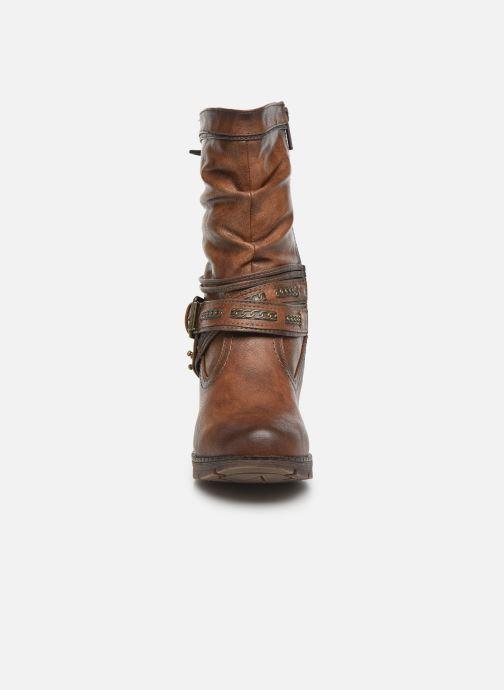Bottines et boots Mustang shoes Vamon Marron vue portées chaussures