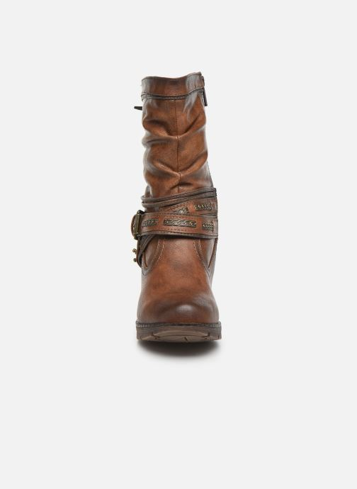 Ankle boots Mustang shoes Vamon Brown model view