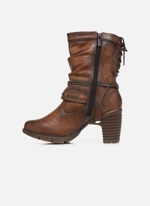 Bottines et boots Mustang shoes Vamon Marron vue face