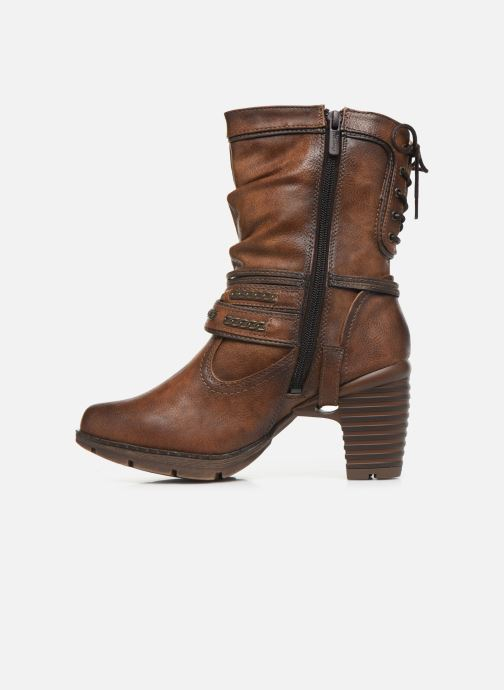 Ankle boots Mustang shoes Vamon Brown front view