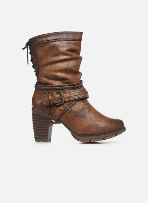 Ankle boots Mustang shoes Vamon Brown back view