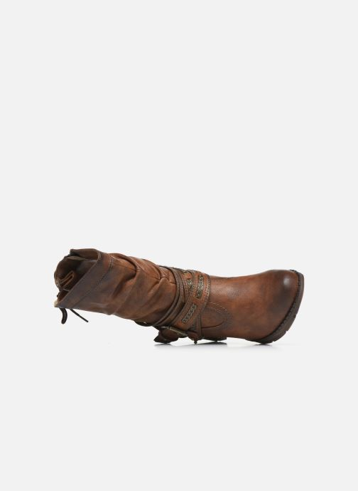 Ankle boots Mustang shoes Vamon Brown view from the left