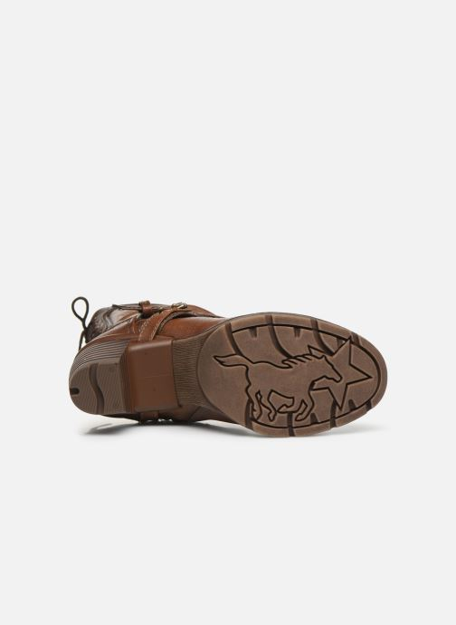 Ankle boots Mustang shoes Vamon Brown view from above