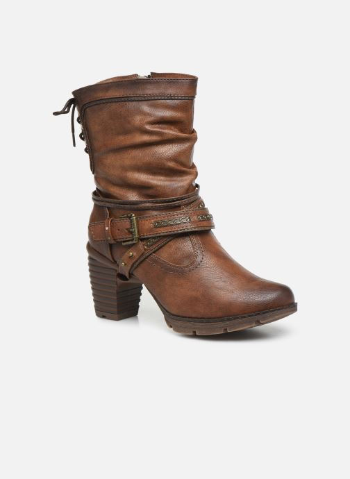Ankle boots Mustang shoes Vamon Brown detailed view/ Pair view