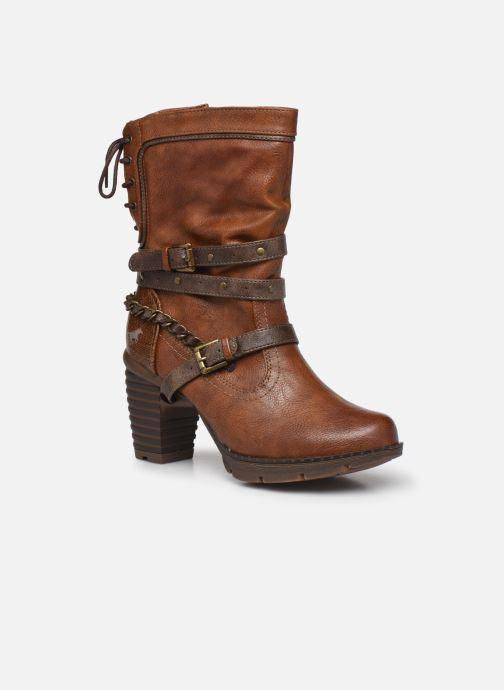 Boots en enkellaarsjes Mustang shoes Vamon Bruin detail