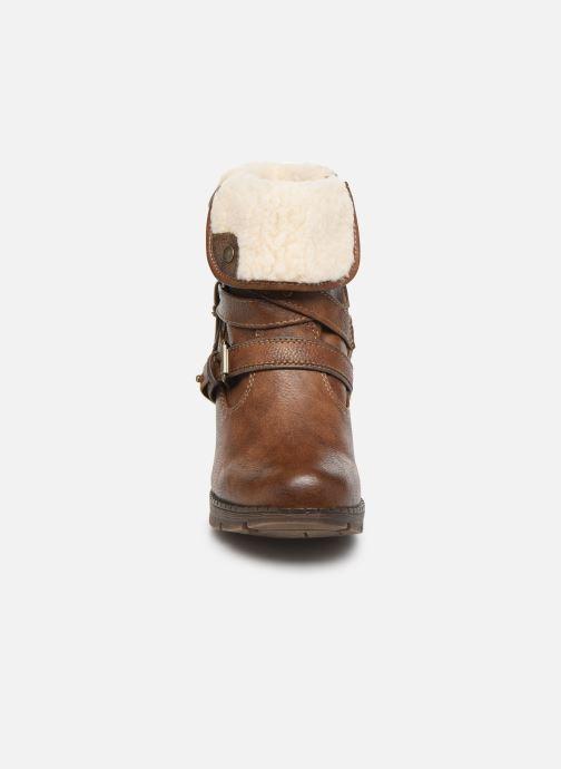 Bottines et boots Mustang shoes Joyka Marron vue portées chaussures
