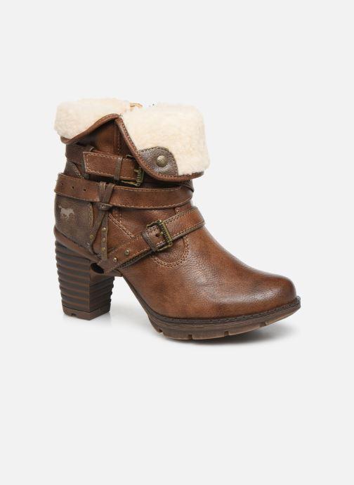 Bottines et boots Mustang shoes Joyka Marron vue détail/paire
