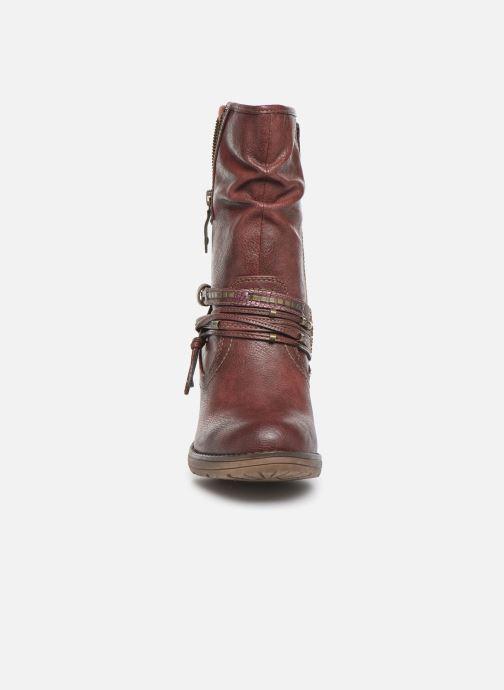 Bottines et boots Mustang shoes Colza Bordeaux vue portées chaussures