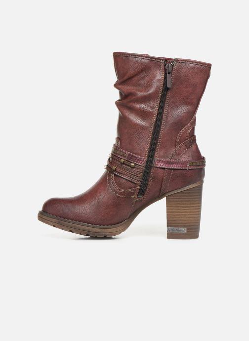 Bottines et boots Mustang shoes Colza Bordeaux vue face